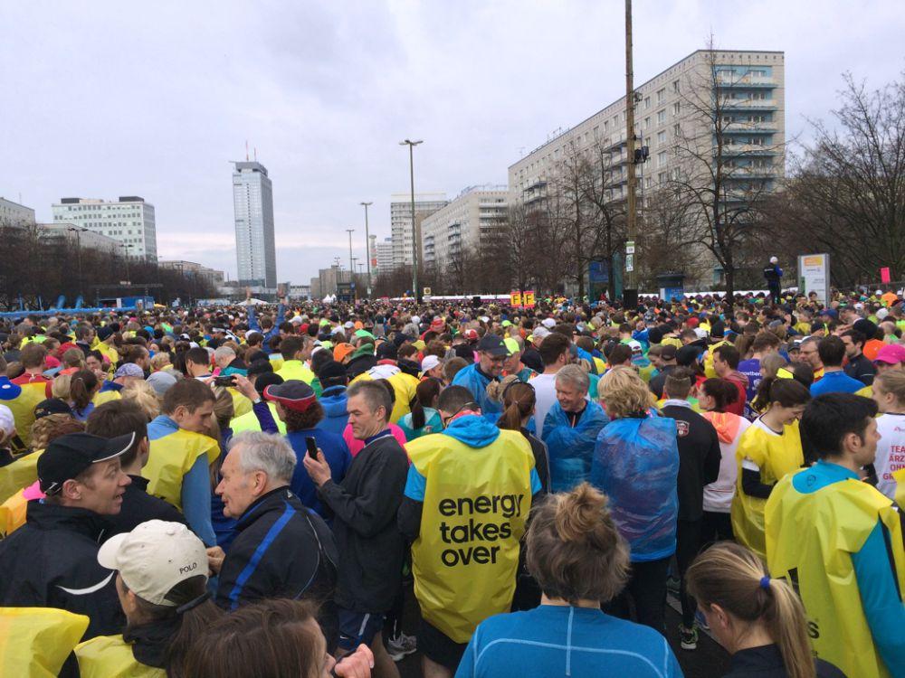 Berlin Halvmarathon 2015 startområde