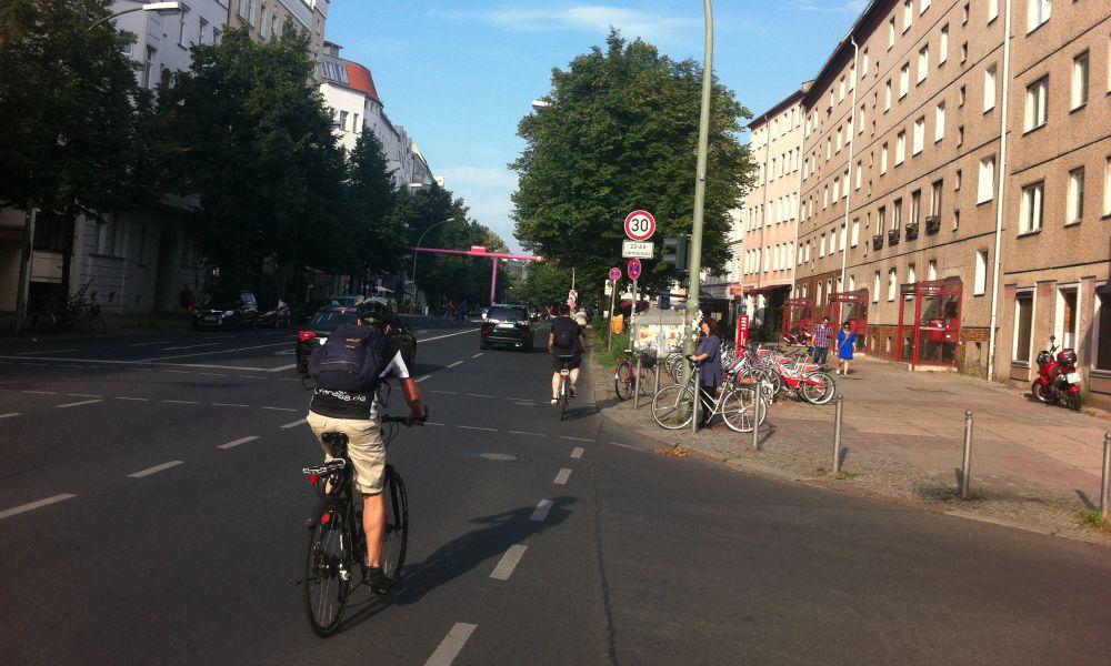 Cykel i Berlin, Brede fortorv